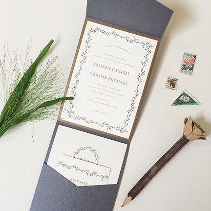 dancing ivy wedding invitation