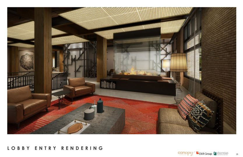 Canopy lobby rendering