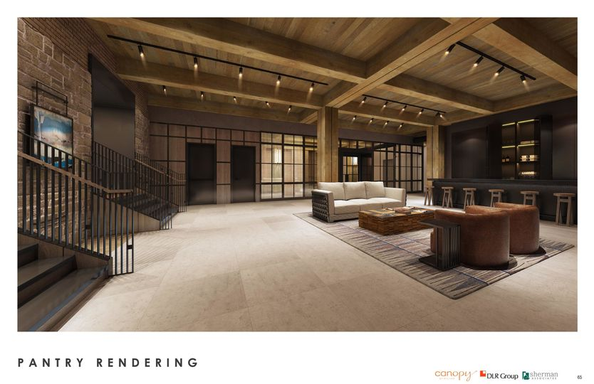 Canopy lower level lounge rendering