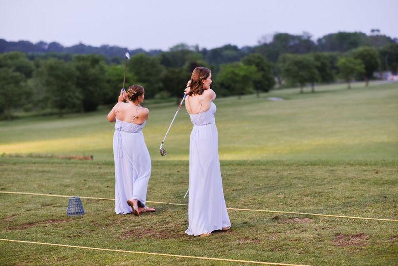 Golfing Bridal Party