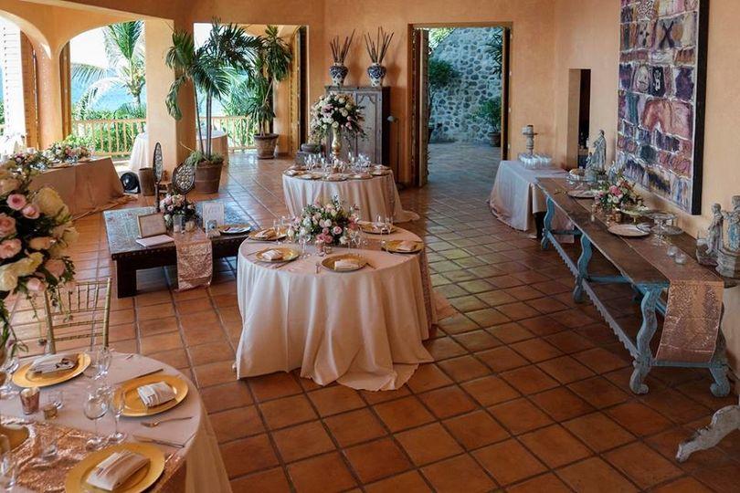 Destination Wedding elegant dinning