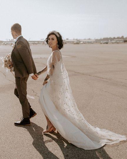 Tarmac newlyweds