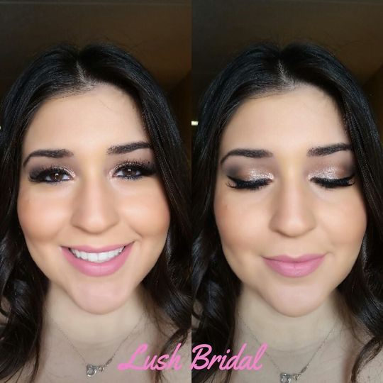 Lush Bridal Makeup and Hair