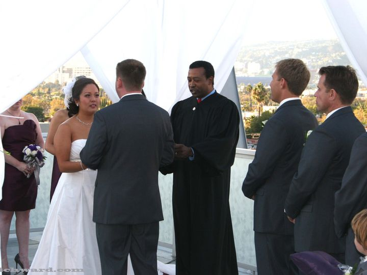 Tmx 1372786899455 Mitchwardmarringgracetrantochristophermichaelbrownfinalad Manhattan Beach wedding officiant