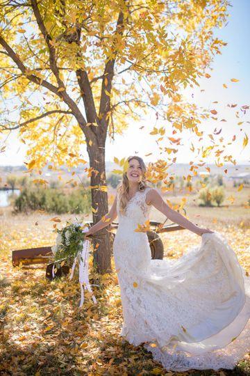 Fall Wedding Bridal Portrait