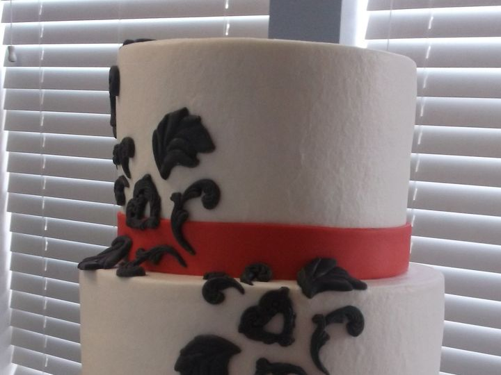 Tmx 1373672121345 Red And White Fort Worth wedding cake