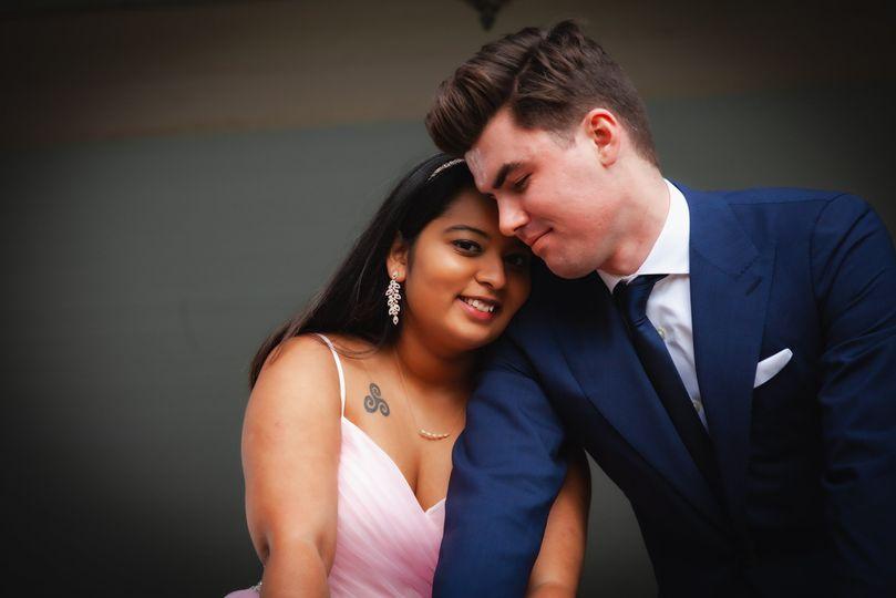 Beautiful bride and her groom