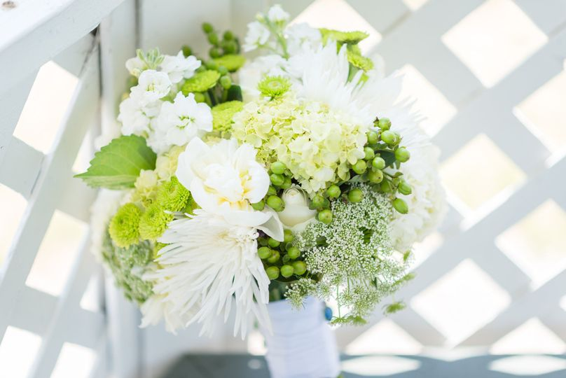 Greens and white, simply stunning.