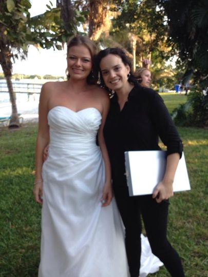 The bride with the wedding planner