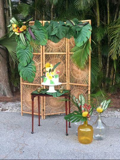 Tropical Boho Theme
