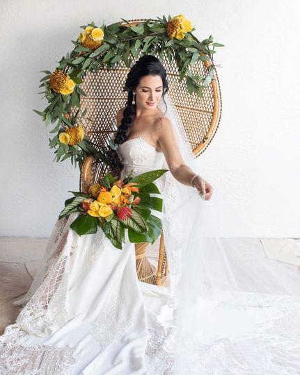Tropical Boho Chair & Bridal B