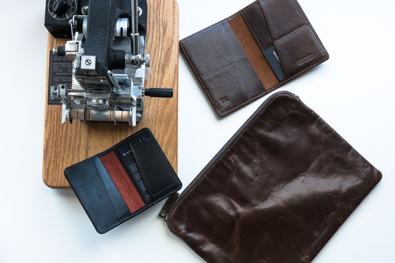 These are some examples of our monogrammed leather goods. Monogramming is only $10 per item.