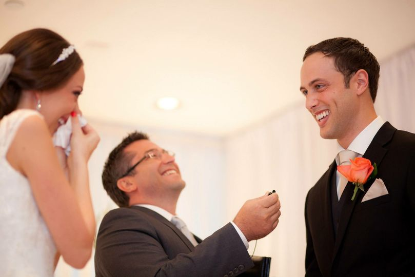 Laughter at the ceremony