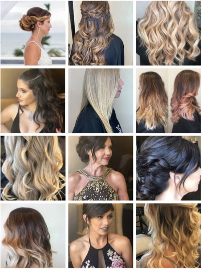 Boho waves and chic updos
