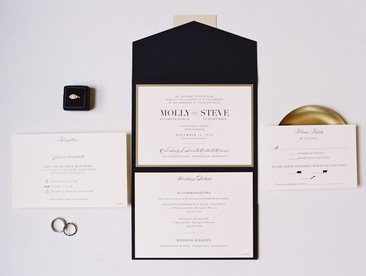 Classic Pocket Fold Invitation