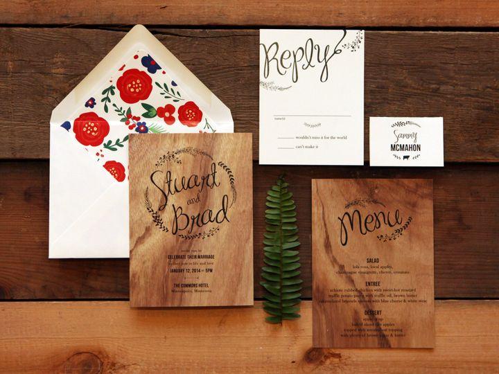 Tmx 1446499099477 Photoshoot0015 Burnsville, MN wedding invitation