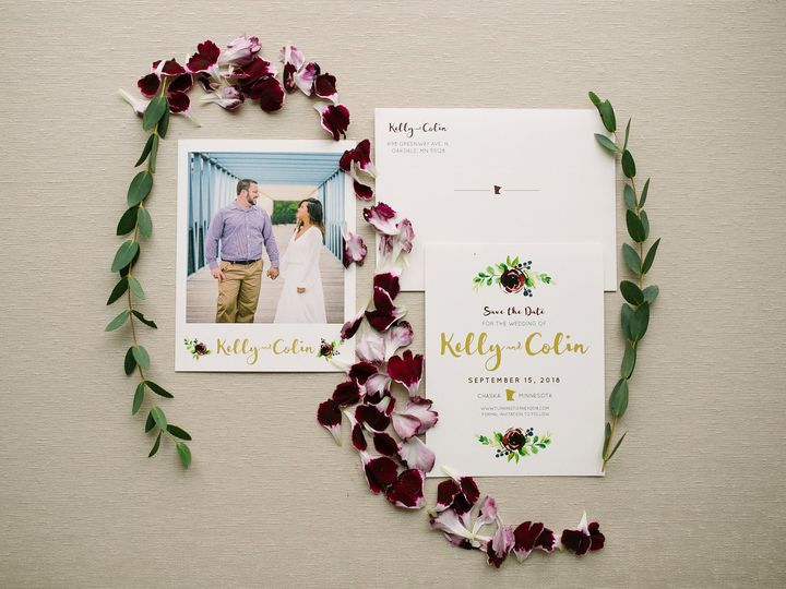 Tmx 1514559436408 Elpmilestonepaperdec2017040 X3 Burnsville, MN wedding invitation
