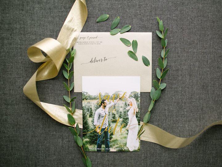 Tmx 1514559662298 Elpmilestonepaperdec2017038 X3 Burnsville, MN wedding invitation