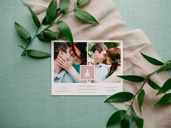Tmx 1514559794038 Elpmilestonepaperdec2017034 X3 Burnsville, MN wedding invitation