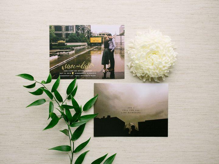Tmx 1514559852169 Elpmilestonepaperdec2017032 X3 Burnsville, MN wedding invitation