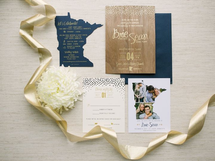 Tmx 1514560405023 Elpmilestonepaperdec2017031 X3 Burnsville, MN wedding invitation