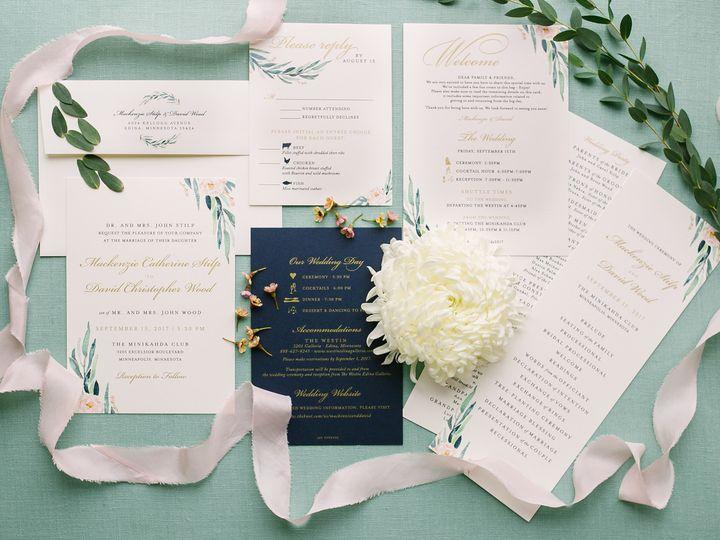 Tmx 1514560434045 Elpmilestonepaperdec2017026 X3 Burnsville, MN wedding invitation