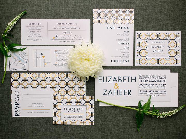 Tmx 1514560842293 Elpmilestonepaperdec2017022 X3 Burnsville, MN wedding invitation