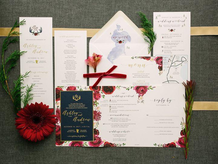 Tmx 1514560863909 Elpmilestonepaperdec2017020 X3 Burnsville, MN wedding invitation