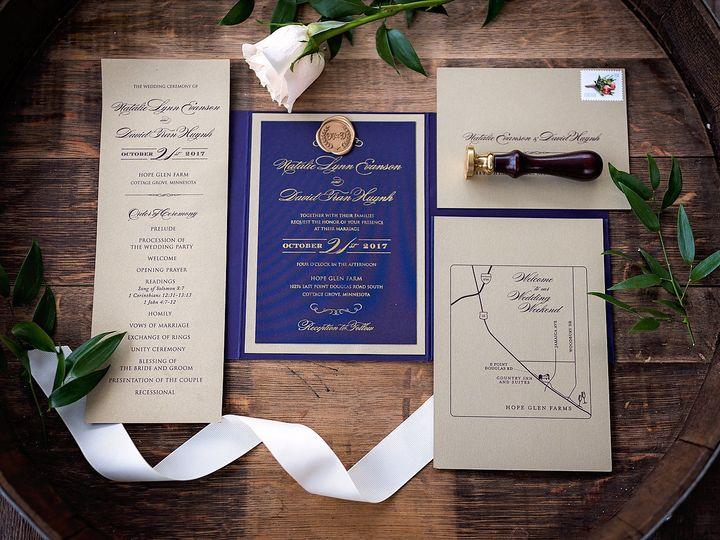 Tmx 1531841659 1384302e3d2e55b9 1531841648 Ecea194d45d96459 1531841641812 2 David And Natalie  Burnsville, MN wedding invitation