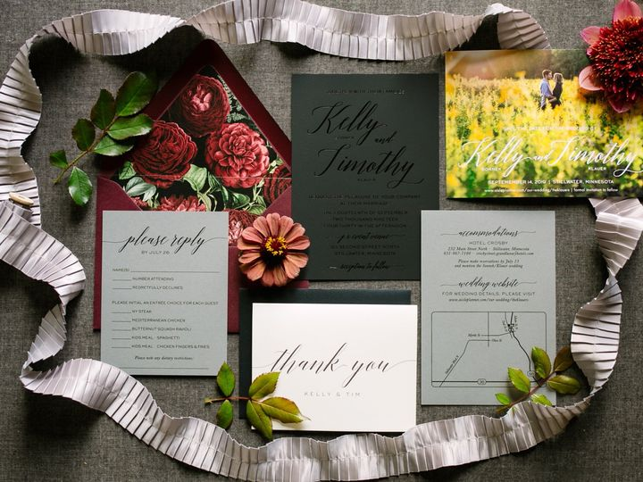 Tmx Blackfoilinv 51 87763 1570825549 Burnsville, MN wedding invitation