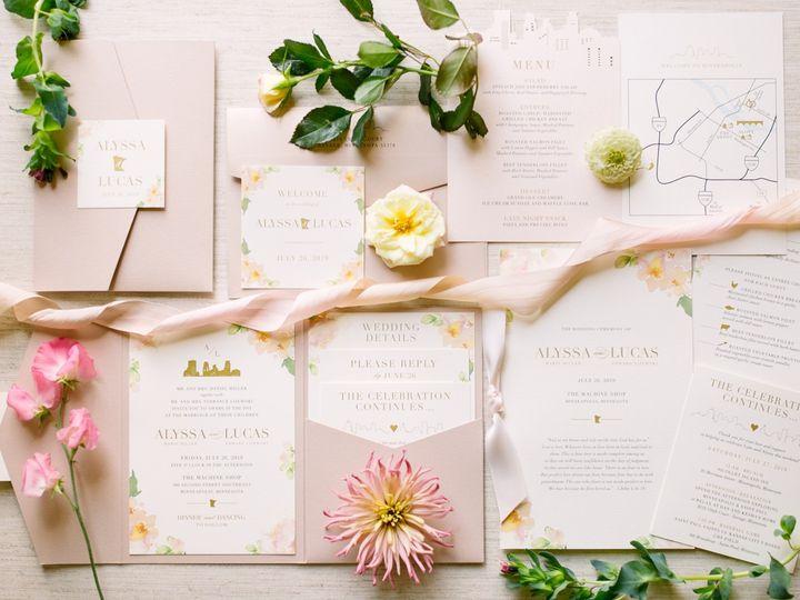 Tmx Blushpocketfold3 51 87763 1566935395 Burnsville, MN wedding invitation