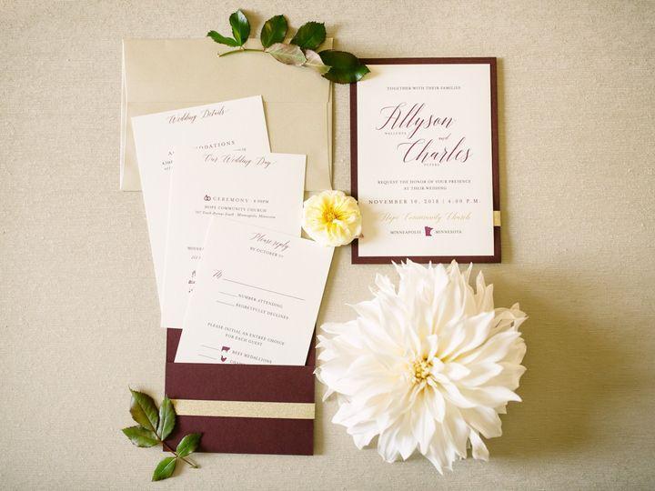 Tmx Burgundyinv 51 87763 1566935397 Burnsville, MN wedding invitation