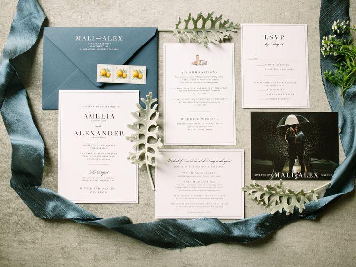 Tmx Classicblueinvitation 51 87763 1566935397 Burnsville, MN wedding invitation