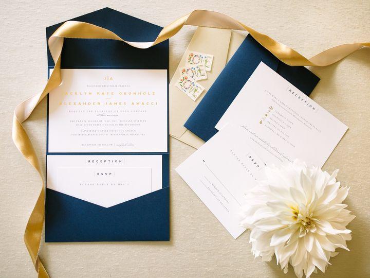 Tmx Modernpocketfold 51 87763 1566935396 Burnsville, MN wedding invitation