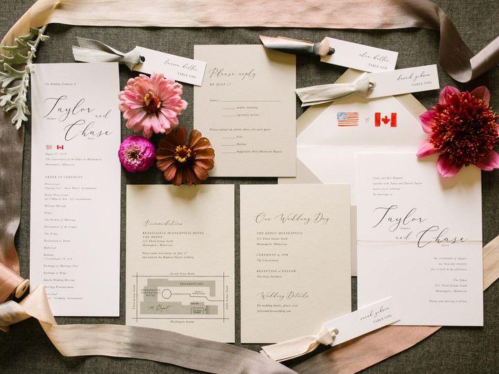 Tmx Modernscript 51 87763 1566935397 Burnsville, MN wedding invitation