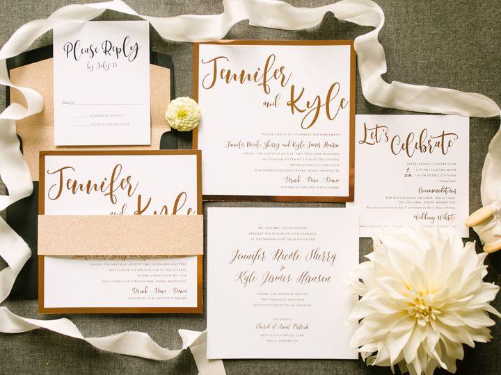 Tmx Rosegoldfoilinv 51 87763 1566935402 Burnsville, MN wedding invitation