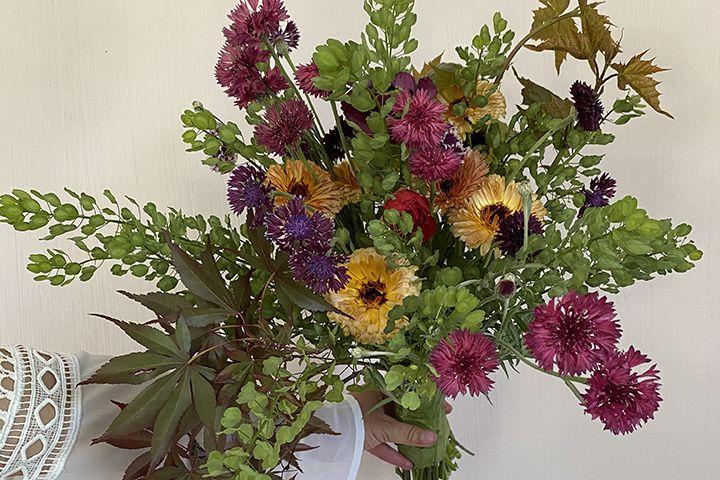Bohemian burgundy arrangement