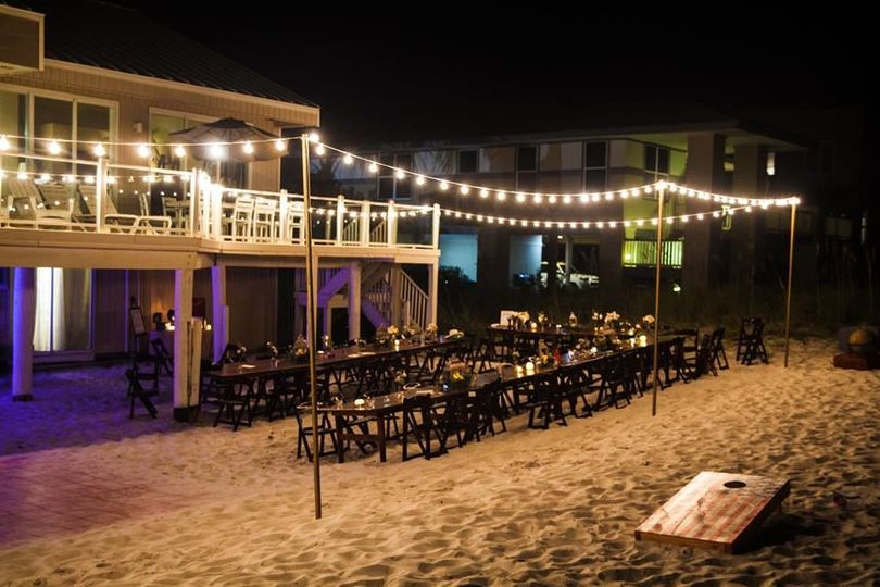After the ceremony, walk back to your beach rental and enjoy the reception.