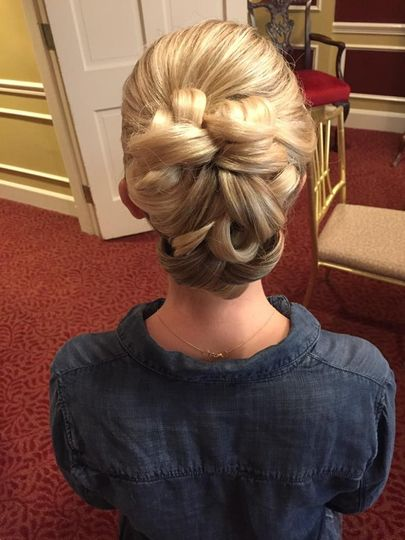 Intricate hair designs