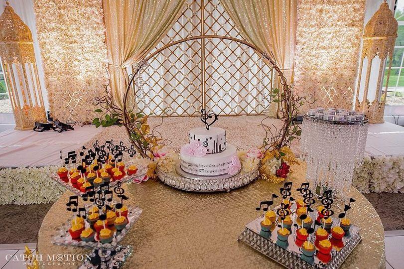 Cake table inside decor