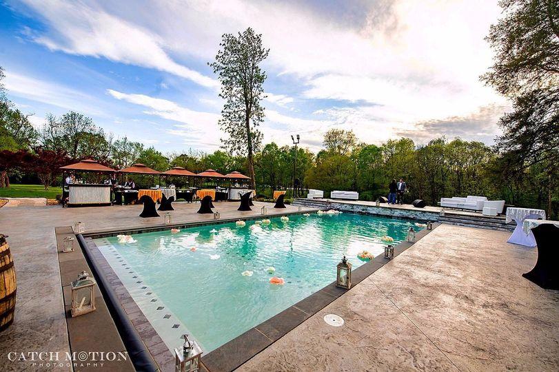 Outdoor pool patio