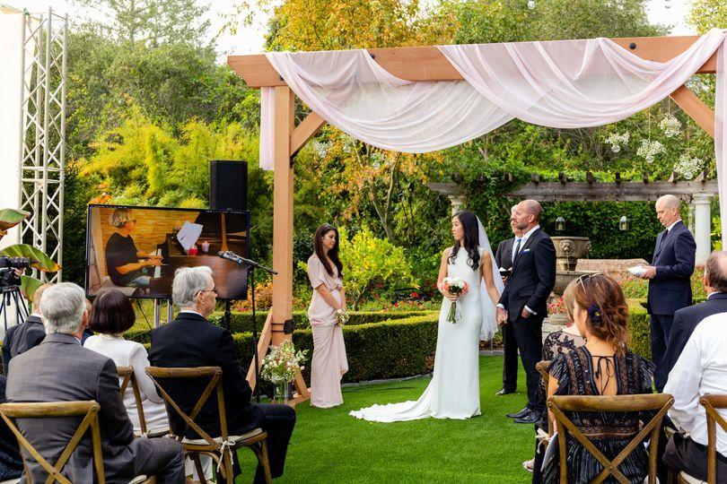 Livestreamed wedding
