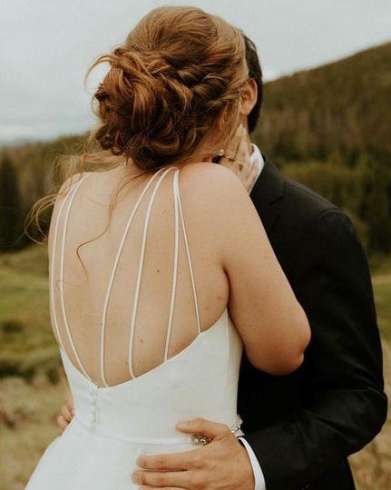 A wedding updo