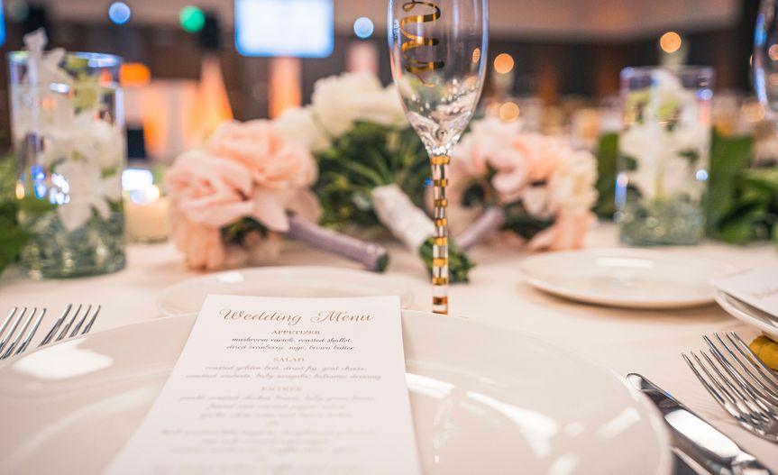 Ballroom table setting