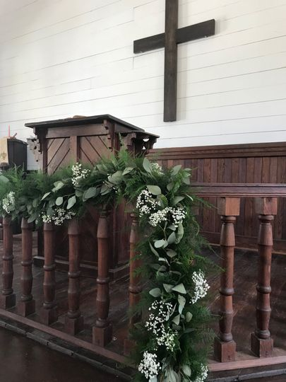 Altar Decor with Baby's Breath