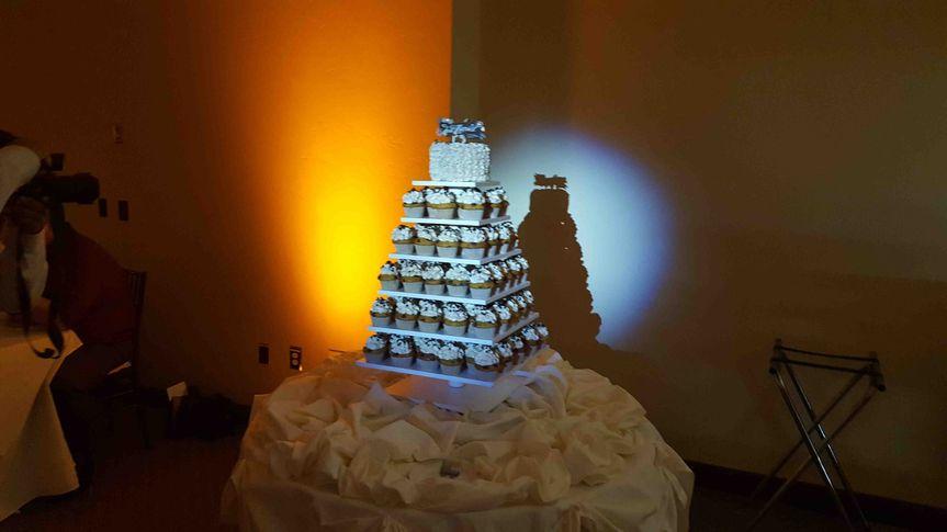 Cupcake pyramid spotlight