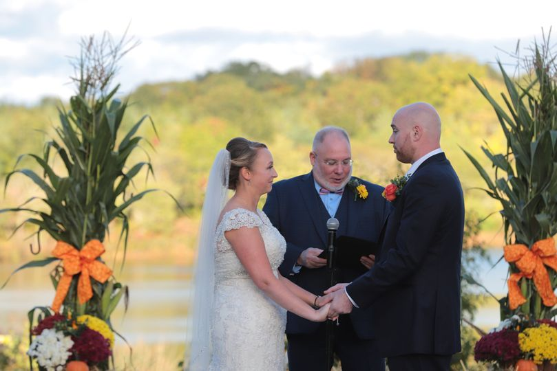 Officiant heading a ceremony