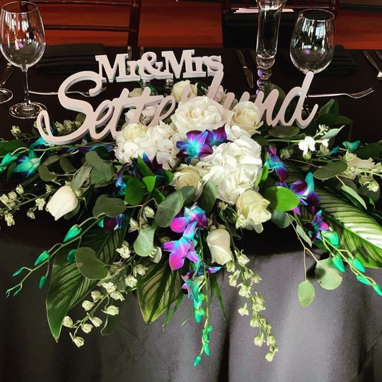 Sweetheart table wi orchid