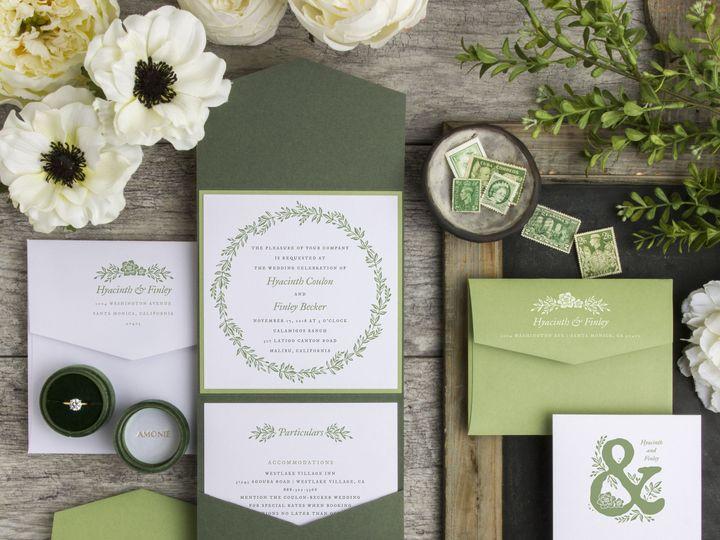 Tmx 1538057671 4fc3f11744447dc0 1538057668 C3e6a9a8821eba81 1538057666482 5 Gorgeous WreathWW Traverse City, MI wedding invitation