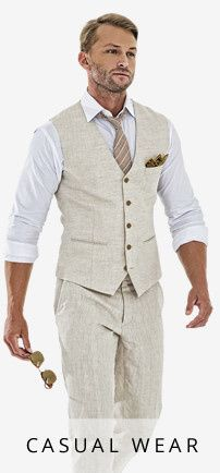 Casual suits are perfect for beach weddings or bringing a laid back vibe to your big day. This is...